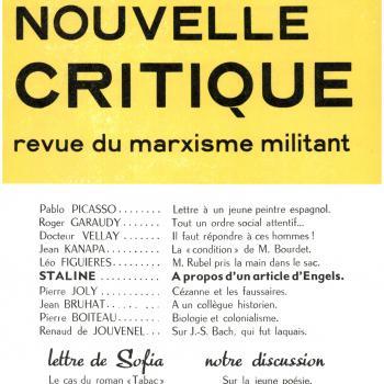 couverture Nouvelle critique n°40 1952